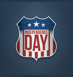 fourth of july independence day colorful badge vector image vector image