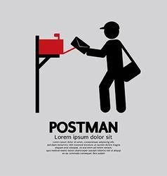 Postman Graphic Symbol vector image