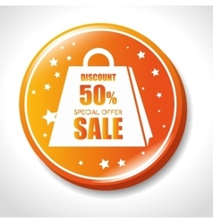 discount special offer sale golden badge vector image