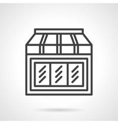 Toys shop showcase simple line icon vector image