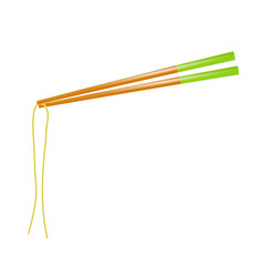 traditional colored asian chopsticks for food vector image
