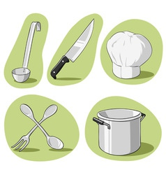 vector set of kitchenware vector image vector image