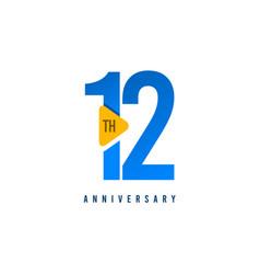 12 years anniversary celebration template design vector