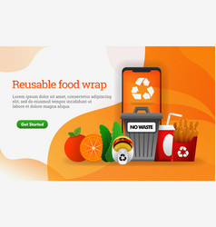 3d food junk food with theme reduce reuse vector