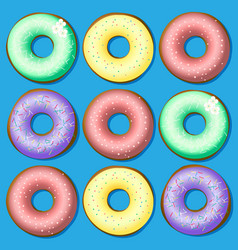 A set of sweet donuts vector