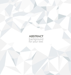 Abstract crumpled white paper background vector