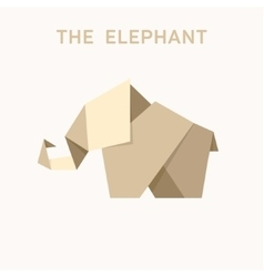 Animal Origami elephant into flat vector
