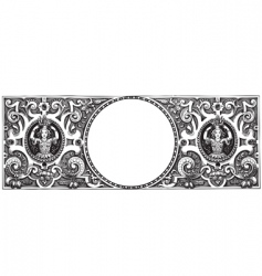 antique frame engraving vector image vector image