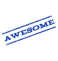 Awesome Watermark Stamp vector image