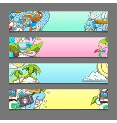 Banner summer theme vector image