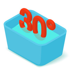 basin 30 degrees icon isometric 3d style vector image