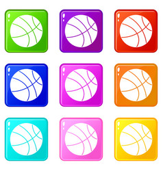 Basketball ball set 9 vector