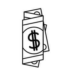 Black silhouette of folded bill in many parts vector