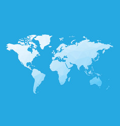 blue blank world map vector image