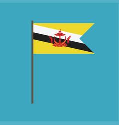 brunei flag icon in flat design vector image