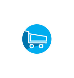 cart shop logo vector image