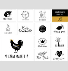 Collection modern logos and vector