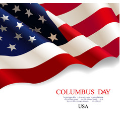 columbus day flag usa vector image