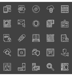 Computer or internet security icons vector