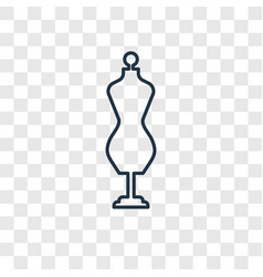 Couture mannequin concept linear icon isolated on vector