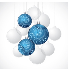 decorative christmas baubles vector image