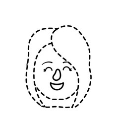 dotted shape avatar woman head with hairstyle vector image