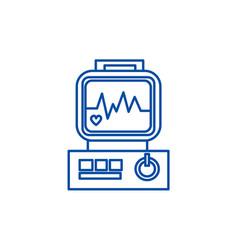 Electrocardiogramheart analyse line icon concept vector