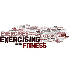 Exercises word cloud concept vector