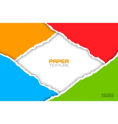 Frame of colorful bright lacerated papers vector image