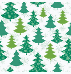 green and white scattered christmas trees vector image