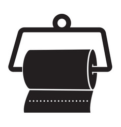 Hanging a disposable paper towels flat icon vector