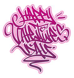 Happy Valentines Day Graffiti vector