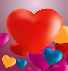 Hearts in pink background6 vector