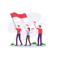 Indonesia independence day celebration vector