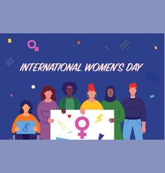 International womens day women different vector