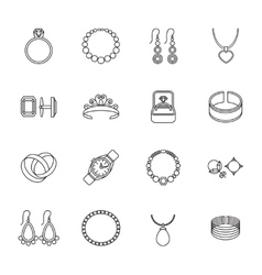 Jewelry icon outline vector image