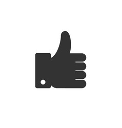 like button hand icon vector image
