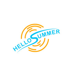 logo hello summer isolated on white background vector image