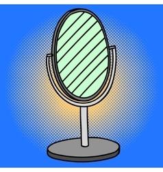 Mirror Pop art vector image