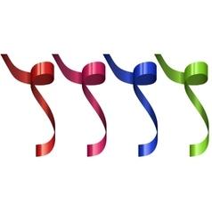 modern festive ribbon set isolated on white vector image