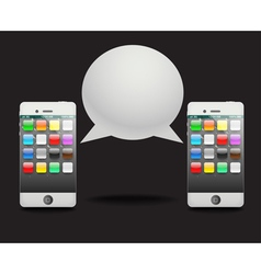 Modern phone with speech cloud vector image
