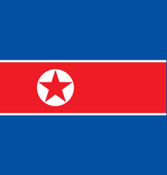 north korea flag isolate banner print flat vector image