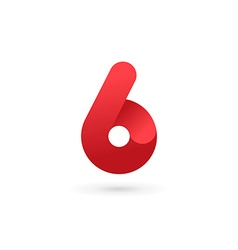 Number 6 logo icon design template elements vector