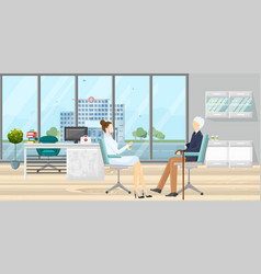 patient at doctor consultation medical vector image