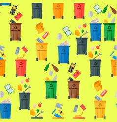 recycling garbage waste sorting processing vector image