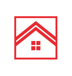 Red house box vector