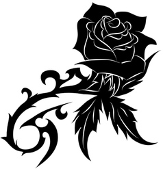 Rose Tattoo Thorn Vector Images Over 140