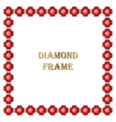 Ruby square frame vector