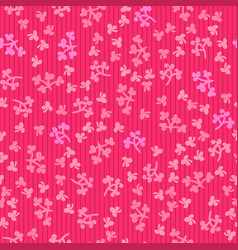 seamless hand drawn floral pattern vibrant pink vector image