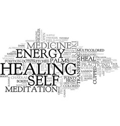 Self-healing word cloud concept vector